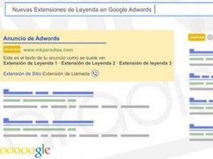 Nuevas Extensiones de Leyenda en Google Adwords